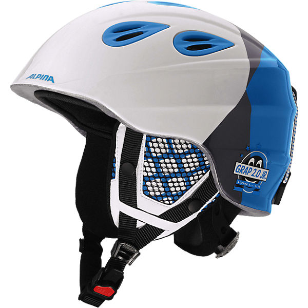 Skihelm Grap 2.0 Jr.white-silver-blue