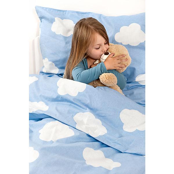 Kinderbettwasche Wolken Biber Blau 100 X 135 Cm Powerkids Mytoys