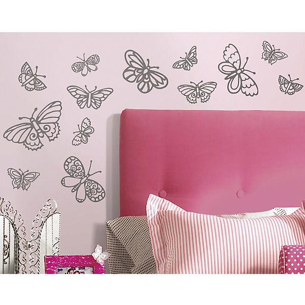 """Наклейки для декора """"Мерцающие бабочки"""""""