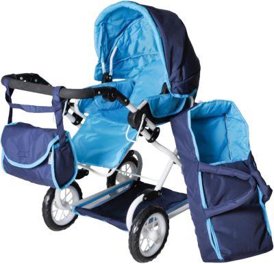 Puppenwagen Kombi Salsa Blue Flower