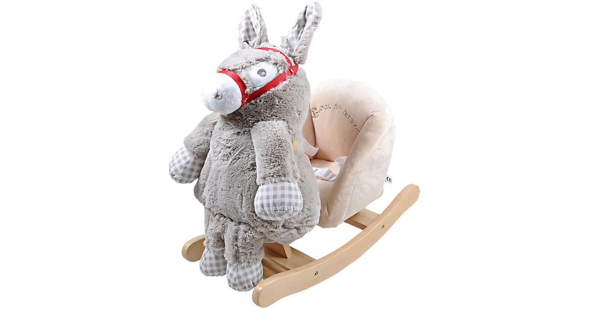 Knorr Toys · Schaukeltier Esel Toki mit abnehmbarem Stofftier inkl. Gurt