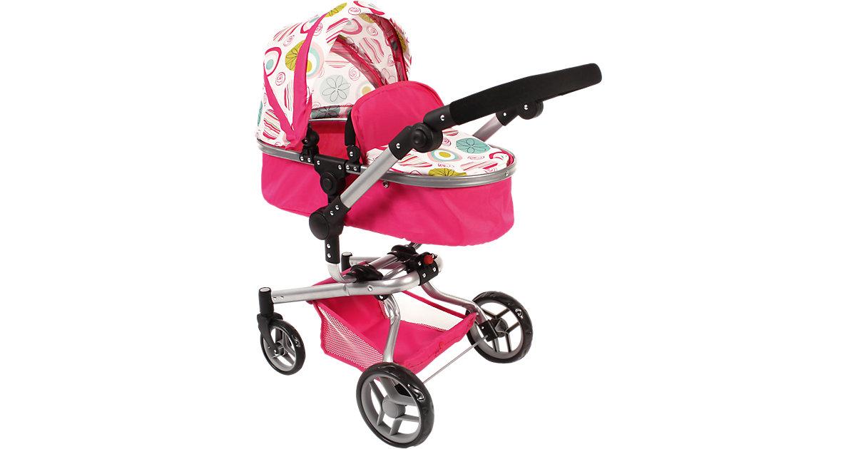 Kombi-Puppenwagen Yolo, pink