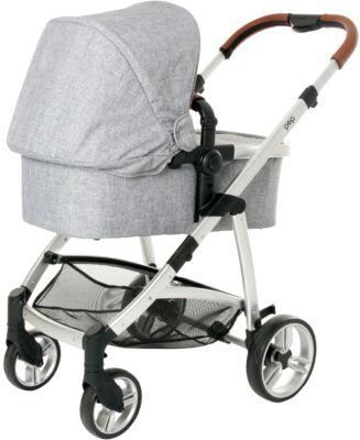 Kombikinderwagen 2 in 1 Kinderwagen-Set Babyblume MUSCA grau-melange