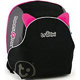 Автокресло-рюкзак черно-розовое