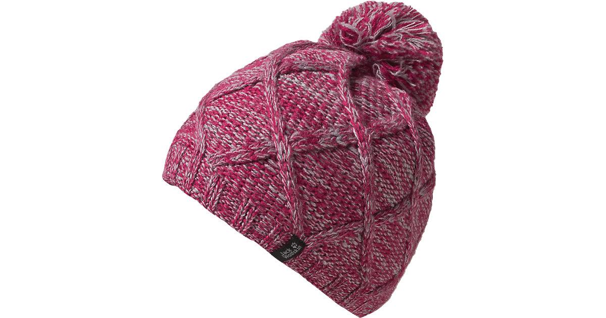 Kinder Mütze CROSS KNIT pink Gr. 49-50 Mädchen Kleinkinder