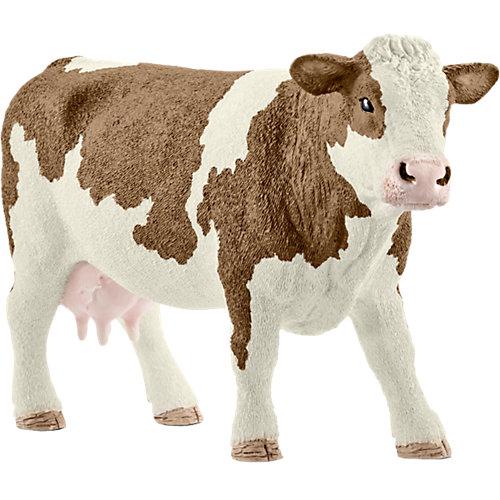 """Коллекционная фигурка Schleich """"Животные с фермы"""" Симментальская корова от Schleich"""