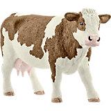 """Коллекционная фигурка Schleich """"Животные с фермы"""" Симментальская корова"""