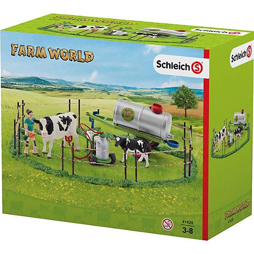 """Коллекционный набор с фигурками Schleich """"Животные с фермы"""" Семья коров на пастбище от Schleich"""