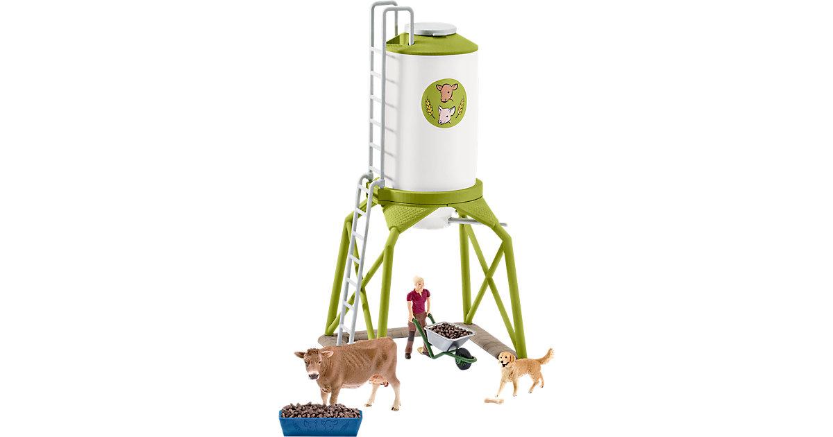 Schleich 41429 Farm World: Futtersilo mit Tieren