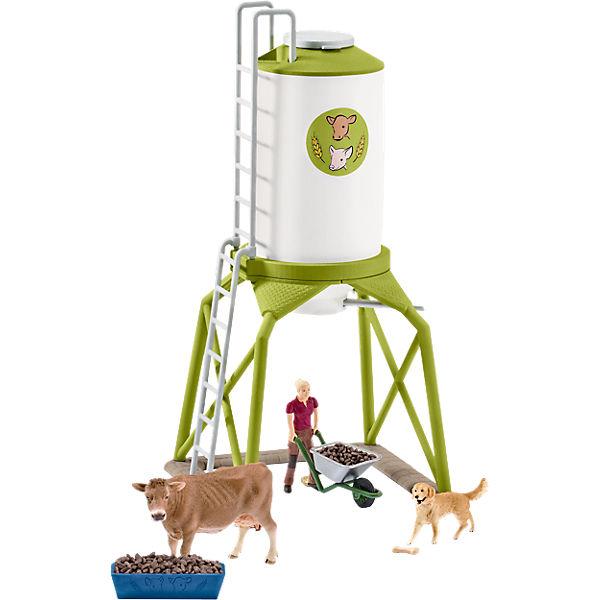 Schleich 41429 Farm World: Futtersilo mit Tieren, Schleich