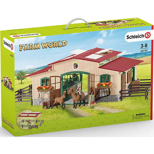 Schleich farm world pferdestall mit pferden und