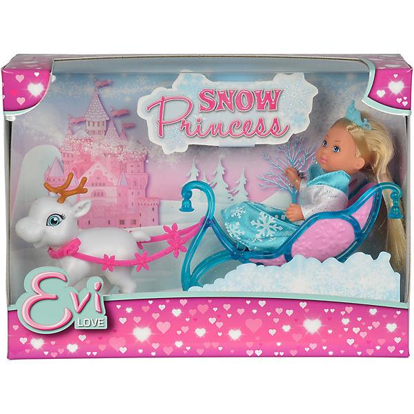 """Игровой набор с мини-куклой Simba """"Evi Love"""" Еви на санях 12 см"""