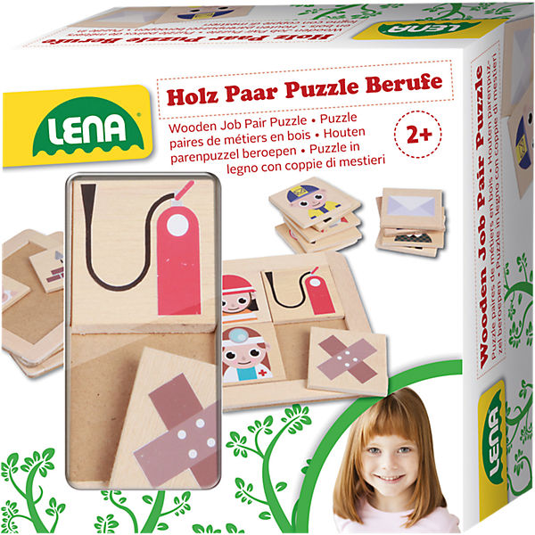 Holz Paar Puzzle Berufe
