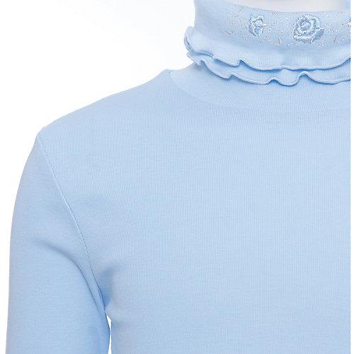 Водолазка для девочки Белый снег - голубой от Снег
