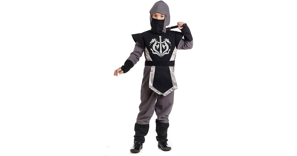 Kostüm Ninja Sandayu schwarz Gr. 128/140 Jungen Kinder