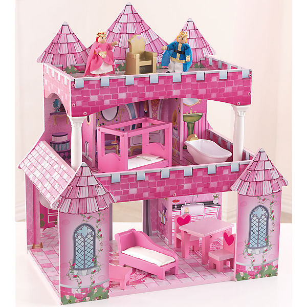 exklusiv puppenhaus princess inkl zubeh r und puppen kidkraft mytoys. Black Bedroom Furniture Sets. Home Design Ideas