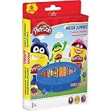 "Цветные карандаши Darpeje ""Play-Doh"" ""Mega Jumbo"", 6 цветов"