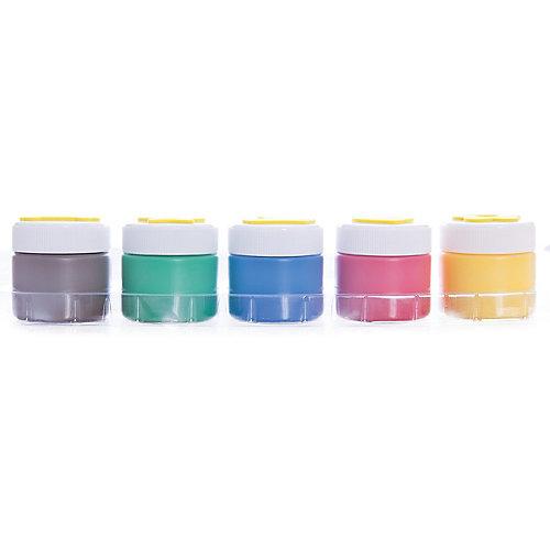 Пальчиковые краски со штампами (5 цветов), Play-Doh от Академия групп