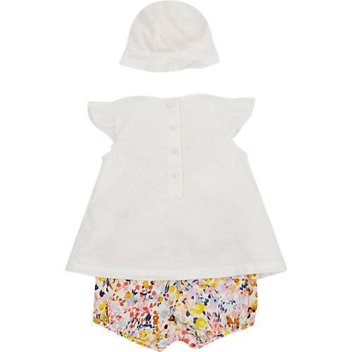 Marks & Spencer Baby Set Bluse + Shorts Hut Gr. 80/86 Mädchen Kleinkinder