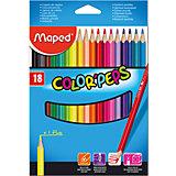 Набор цветных карандашей Maped Colorpeps, 18 цветов