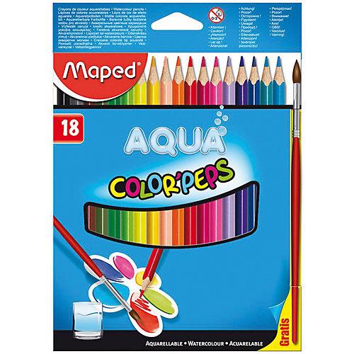 Набор цветных карандашей АКВА COLORPEPS, 18 цв. от Maped