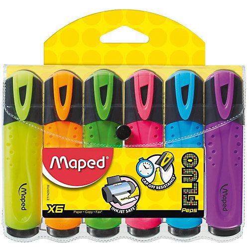 Набор маркеров FLUO PEP'S, 6 цв. от Maped