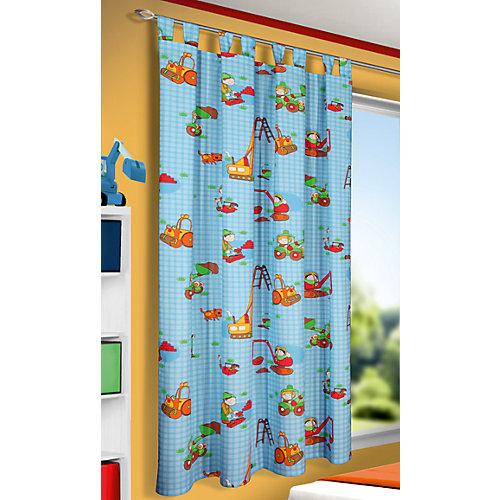 Vorhang Baustelle Bagger, 175 x 135 cm Sale Angebote Kröppen