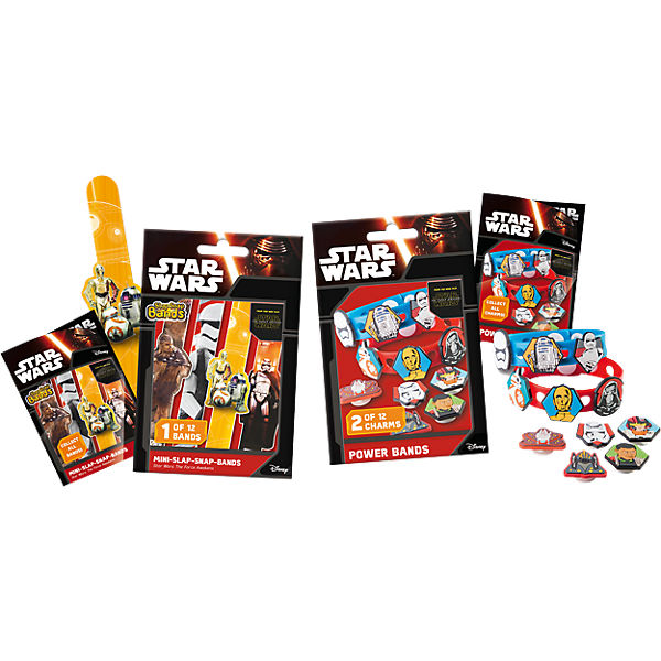 6in1 Set Mini Slap-Snap-Bands + Power Bands - Star Wars