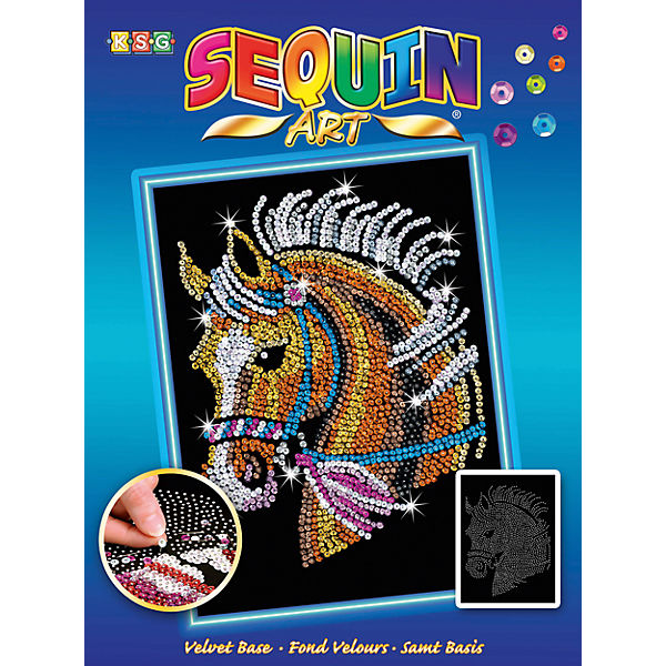Sequin Art Blue - Pferd