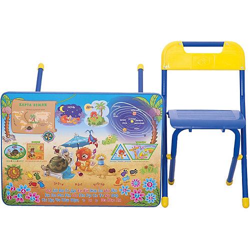 Набор мебели Дэми Львенок и Черепаха (3-7 лет), синий от Дэми