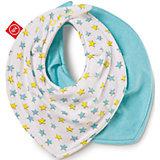 Набор нагрудных фартуков Звезды, Happy Baby, белый/голубой