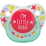 "Соска-пустышка с колпачком ""I am a hero"", с 12 мес., Happy Baby"