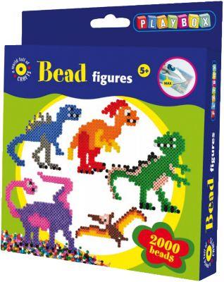 Basteln & Kreativität Hama 3144 Midi Bügelperlen Set DINOSAURIER Dino Geschenkpackung Perlen Beads