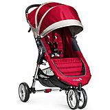 Прогулочная коляска Baby Jogger City Mini Single, красно-серый