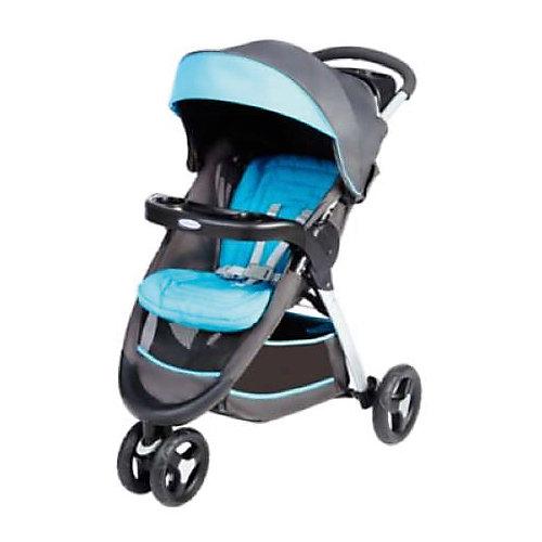 Прогулочная коляска Graco Fastaction Fold, серый-голубой от Graco