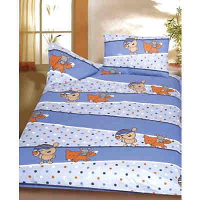 kinderbettw sche b rchen fuchs maus blau biber 100 x. Black Bedroom Furniture Sets. Home Design Ideas