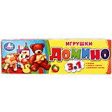 Домино 3 в 1 Умка «Игрушки№