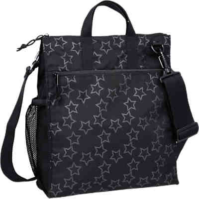 Wickeltasche Casual, Buggy Bag, Reflective Star, black