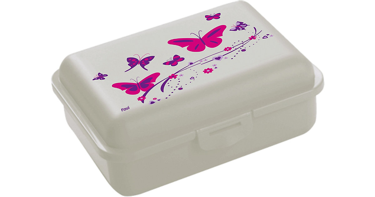 Fizzii Brotdose Uno Schmetterling, inkl. Trennfach | Küche und Esszimmer > Aufbewahrung > Brotkasten | Fizzii
