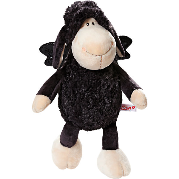 Schaf Jolly Don't worry be happy 20cm Schlenker, schwarz (39837)