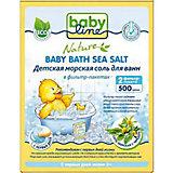 Детская морская соль для ванн с чередой, Babyline, 500 гр.