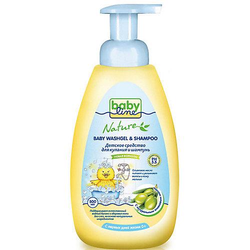 Средство для купания и шампунь BabyLine Nature с маслом оливы 500 мл. от Babyline