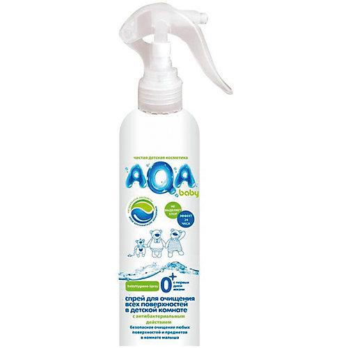 Антибактериальный спрей AQA baby для очищения поверхностей в детской комнате, 300 мл