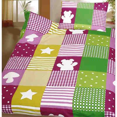 kinderbettw sche patchwork biber 100 x 135 cm mytoys. Black Bedroom Furniture Sets. Home Design Ideas