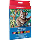 Цветные карандаши, 18 цв., Erich Krause