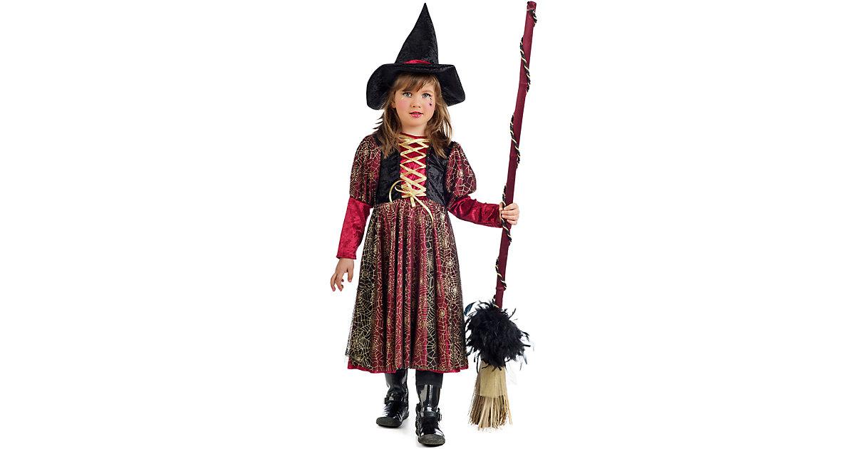 Kostüm Kleine Hexe Sabrina schwarz/rot Gr. 152/158 Mädchen Kinder