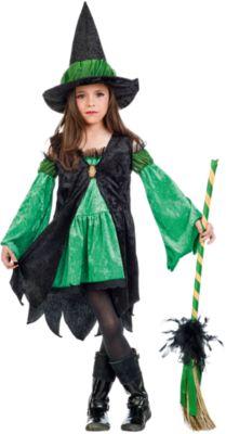 Kostüm Hexe, grün Gr. 140/152 Mädchen Kinder
