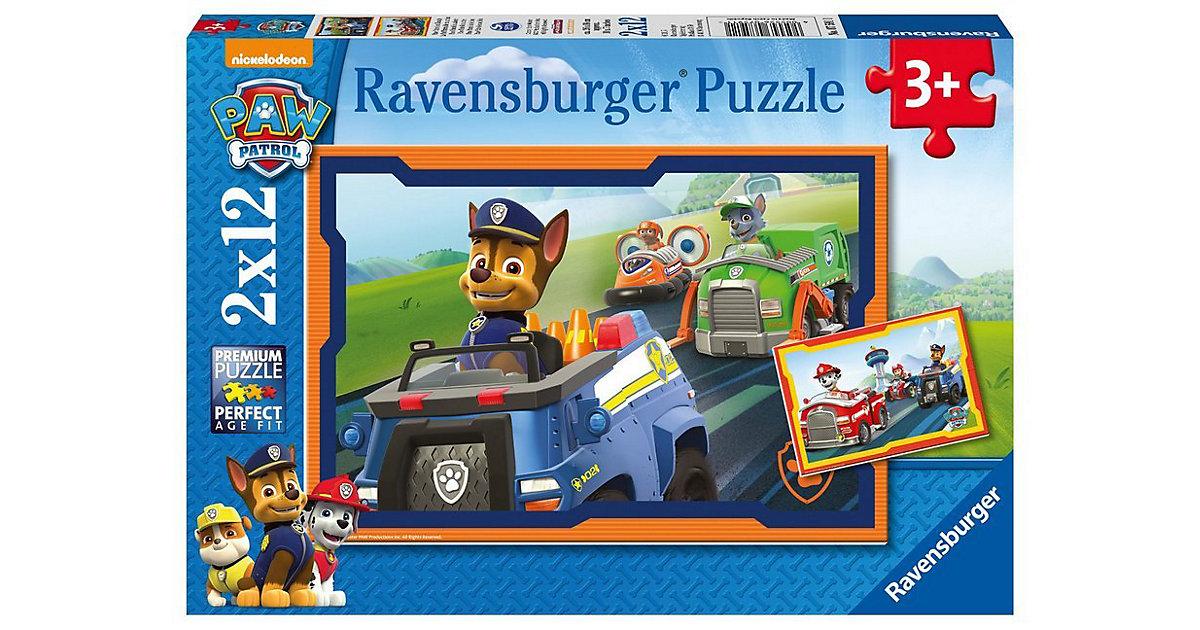Puzzleset 2 x 12 Teile PAW Patrol Patrol im Einsatz