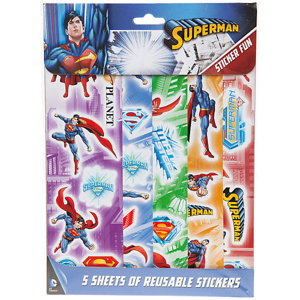 5 Stickerbögen Superman