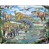 """Пазл """"Динозавры"""", 65 деталей, Larsen"""